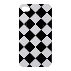 Square2 Black Marble & White Linen Apple Iphone 4/4s Hardshell Case