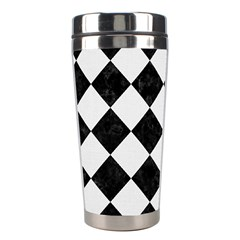Square2 Black Marble & White Linen Stainless Steel Travel Tumblers