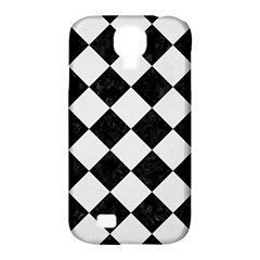 Square2 Black Marble & White Linen Samsung Galaxy S4 Classic Hardshell Case (pc+silicone)
