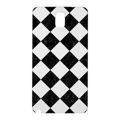 Square2 Black Marble & White Linen Samsung Galaxy Note 3 N9005 Hardshell Back Case