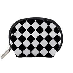 Square2 Black Marble & White Linen Accessory Pouches (small)