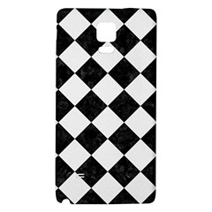 Square2 Black Marble & White Linen Galaxy Note 4 Back Case