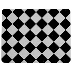 Square2 Black Marble & White Linen Jigsaw Puzzle Photo Stand (rectangular)