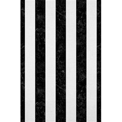 Stripes1 Black Marble & White Linen 5 5  X 8 5  Notebooks