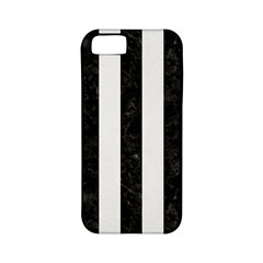 Stripes1 Black Marble & White Linen Apple Iphone 5 Classic Hardshell Case (pc+silicone)