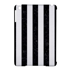Stripes1 Black Marble & White Linen Apple Ipad Mini Hardshell Case (compatible With Smart Cover)