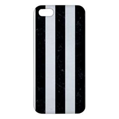 Stripes1 Black Marble & White Linen Apple Iphone 5 Premium Hardshell Case