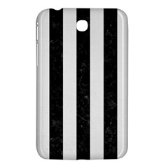 Stripes1 Black Marble & White Linen Samsung Galaxy Tab 3 (7 ) P3200 Hardshell Case