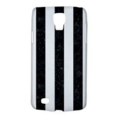Stripes1 Black Marble & White Linen Galaxy S4 Active