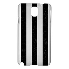 Stripes1 Black Marble & White Linen Samsung Galaxy Note 3 N9005 Hardshell Case