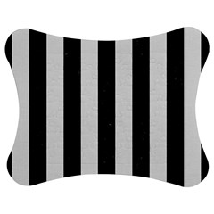 Stripes1 Black Marble & White Linen Jigsaw Puzzle Photo Stand (bow)