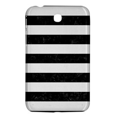 Stripes2 Black Marble & White Linen Samsung Galaxy Tab 3 (7 ) P3200 Hardshell Case