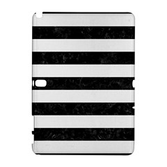 Stripes2 Black Marble & White Linen Galaxy Note 1
