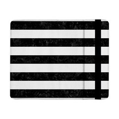 Stripes2 Black Marble & White Linen Samsung Galaxy Tab Pro 8 4  Flip Case