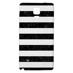 Stripes2 Black Marble & White Linen Galaxy Note 4 Back Case