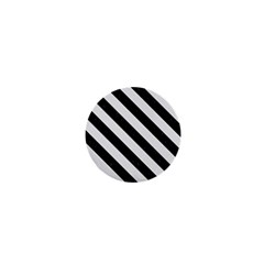 Stripes3 Black Marble & White Linen 1  Mini Buttons