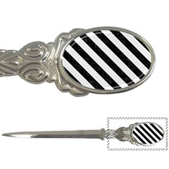 Stripes3 Black Marble & White Linen Letter Openers