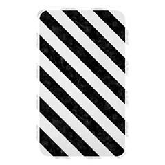 Stripes3 Black Marble & White Linen Memory Card Reader