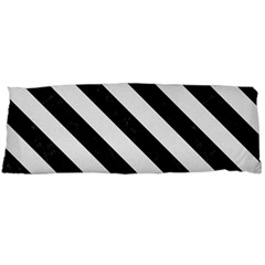 Stripes3 Black Marble & White Linen Body Pillow Case Dakimakura (two Sides)