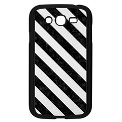 Stripes3 Black Marble & White Linen Samsung Galaxy Grand Duos I9082 Case (black)