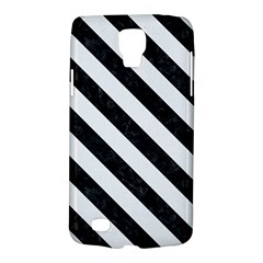 Stripes3 Black Marble & White Linen Galaxy S4 Active