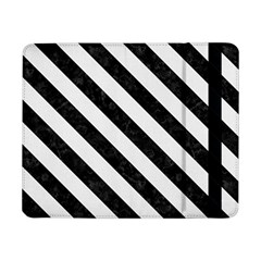Stripes3 Black Marble & White Linen Samsung Galaxy Tab Pro 8 4  Flip Case