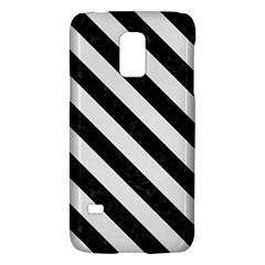 Stripes3 Black Marble & White Linen Galaxy S5 Mini