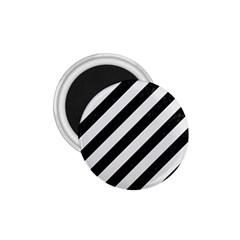 Stripes3 Black Marble & White Linen (r) 1 75  Magnets