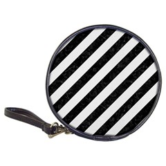 Stripes3 Black Marble & White Linen (r) Classic 20 Cd Wallets