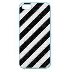 Stripes3 Black Marble & White Linen (r) Apple Seamless Iphone 5 Case (color)