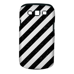 Stripes3 Black Marble & White Linen (r) Samsung Galaxy S Iii Classic Hardshell Case (pc+silicone)