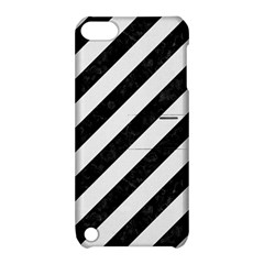Stripes3 Black Marble & White Linen (r) Apple Ipod Touch 5 Hardshell Case With Stand