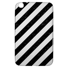 Stripes3 Black Marble & White Linen (r) Samsung Galaxy Tab 3 (8 ) T3100 Hardshell Case