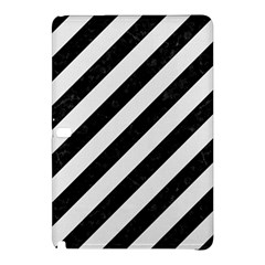 Stripes3 Black Marble & White Linen (r) Samsung Galaxy Tab Pro 10 1 Hardshell Case