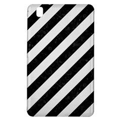 Stripes3 Black Marble & White Linen (r) Samsung Galaxy Tab Pro 8 4 Hardshell Case