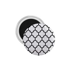 Tile1 Black Marble & White Linen 1 75  Magnets