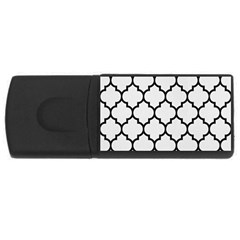 Tile1 Black Marble & White Linen Rectangular Usb Flash Drive