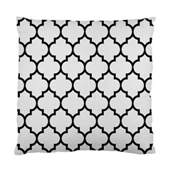Tile1 Black Marble & White Linen Standard Cushion Case (one Side)