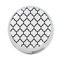 Tile1 Black Marble & White Linen 4 Port Usb Hub (two Sides)