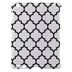 Tile1 Black Marble & White Linen Apple Ipad 3/4 Hardshell Case (compatible With Smart Cover)