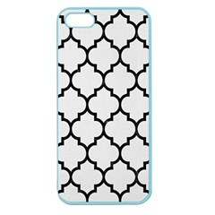 Tile1 Black Marble & White Linen Apple Seamless Iphone 5 Case (color)