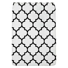 Tile1 Black Marble & White Linen Flap Covers (s)