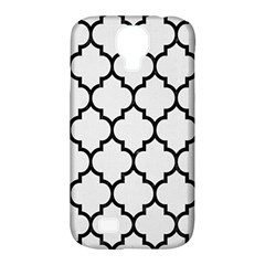 Tile1 Black Marble & White Linen Samsung Galaxy S4 Classic Hardshell Case (pc+silicone)
