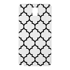 Tile1 Black Marble & White Linen Samsung Galaxy Note 3 N9005 Hardshell Back Case
