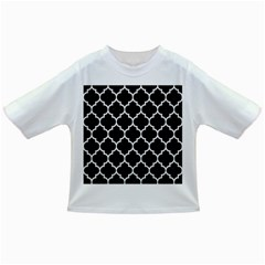 Tile1 Black Marble & White Linen (r) Infant/toddler T Shirts