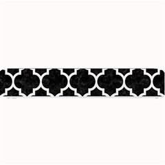 Tile1 Black Marble & White Linen (r) Small Bar Mats