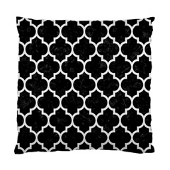 Tile1 Black Marble & White Linen (r) Standard Cushion Case (two Sides)
