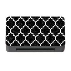 Tile1 Black Marble & White Linen (r) Memory Card Reader With Cf