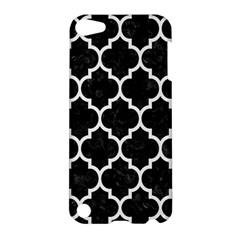Tile1 Black Marble & White Linen (r) Apple Ipod Touch 5 Hardshell Case