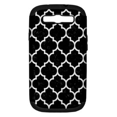 Tile1 Black Marble & White Linen (r) Samsung Galaxy S Iii Hardshell Case (pc+silicone)